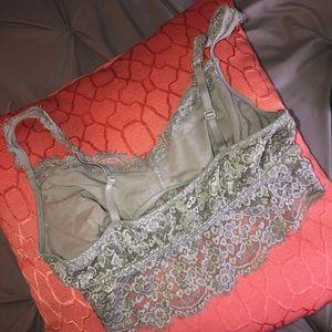 aerie Intimates & Sleepwear - Aerie Gray Lace Bralette